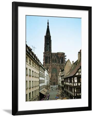Notre Dame Cathedral, Strasbourg, Begun in Romanesque Style in 1015, Gothic Building, 1176-1439--Framed Giclee Print