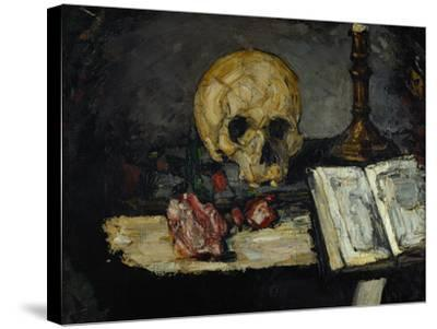 Skull and Candlestick, circa 1866-Paul C?zanne-Stretched Canvas Print