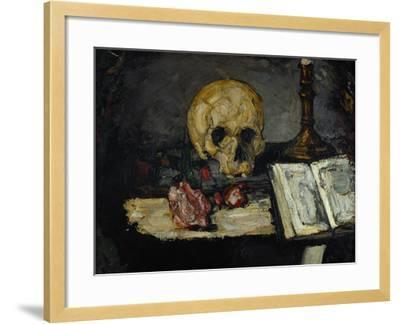 Skull and Candlestick, circa 1866-Paul C?zanne-Framed Giclee Print
