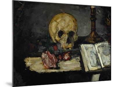 Skull and Candlestick, circa 1866-Paul C?zanne-Mounted Giclee Print