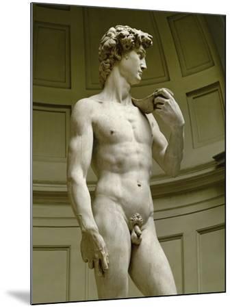 David, 3/4 Profile-Michelangelo Buonarroti-Mounted Giclee Print