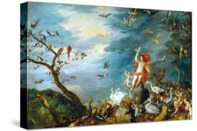 Air: One of the Four Paintings Showing the Four Elements-Jan Brueghel the Elder-Stretched Canvas Print