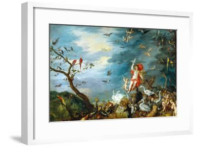 Air: One of the Four Paintings Showing the Four Elements-Jan Brueghel the Elder-Framed Giclee Print