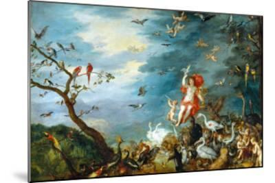 Air: One of the Four Paintings Showing the Four Elements-Jan Brueghel the Elder-Mounted Giclee Print