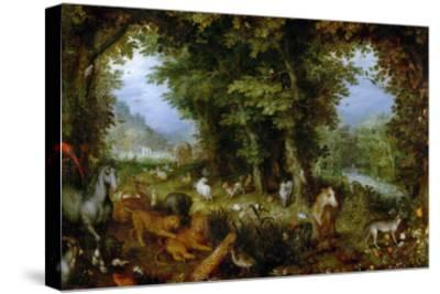 Earthly Paradise, 1607-1608-Jan Brueghel the Elder-Stretched Canvas Print
