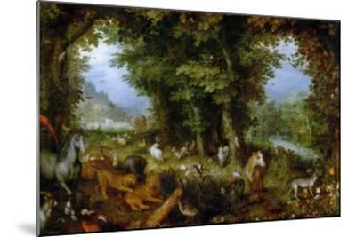 Earthly Paradise, 1607-1608-Jan Brueghel the Elder-Mounted Giclee Print