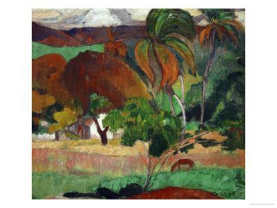 Apatarao (District of Papeete, Capital of Tahiti), 1893-Paul Gauguin-Framed Giclee Print