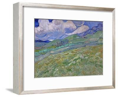 Wheatfield and Mountains, c.1889-Vincent van Gogh-Framed Premium Giclee Print