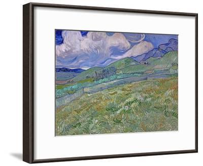 Wheatfield and Mountains, c.1889-Vincent van Gogh-Framed Premium Giclee Print