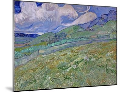 Wheatfield and Mountains, c.1889-Vincent van Gogh-Mounted Premium Giclee Print