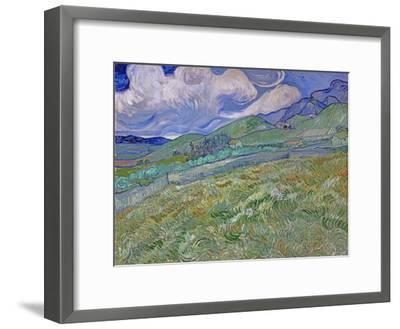 Wheatfield and Mountains, c.1889-Vincent van Gogh-Framed Giclee Print