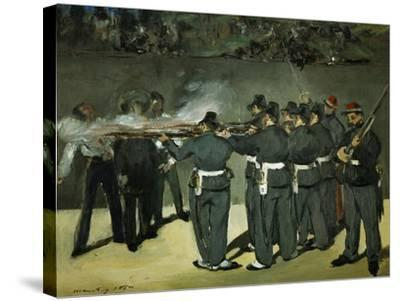 Oil Sketch for the Execution of Emperor Maximilian, 1867-Edouard Manet-Stretched Canvas Print