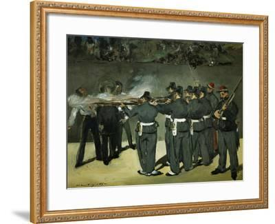 Oil Sketch for the Execution of Emperor Maximilian, 1867-Edouard Manet-Framed Giclee Print
