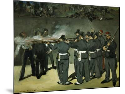 Oil Sketch for the Execution of Emperor Maximilian, 1867-Edouard Manet-Mounted Giclee Print