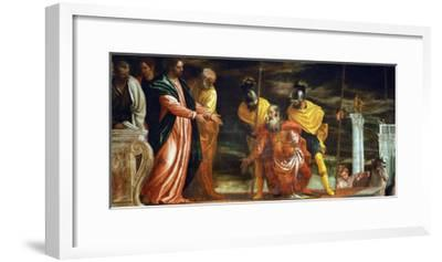 The Centurion of Capernaum Who Begs Jesus to Heal His Paralyzed Servant-Paolo Veronese-Framed Giclee Print