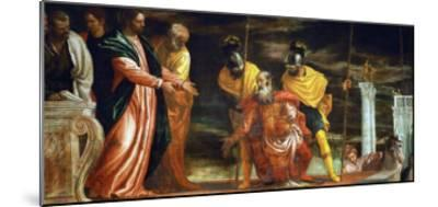 The Centurion of Capernaum Who Begs Jesus to Heal His Paralyzed Servant-Paolo Veronese-Mounted Giclee Print