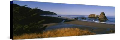 Rocks on the Beach, Cannon Beach, Oregon, USA--Stretched Canvas Print