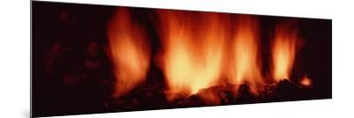 Fire in Fireplace--Mounted Photographic Print