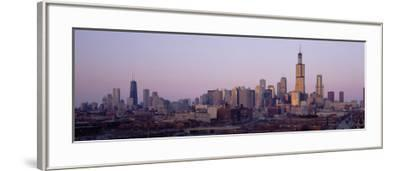 Buildings at Dusk, Chicago, Illinois, USA--Framed Photographic Print