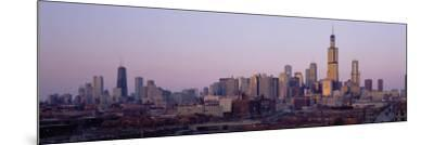 Buildings at Dusk, Chicago, Illinois, USA--Mounted Photographic Print