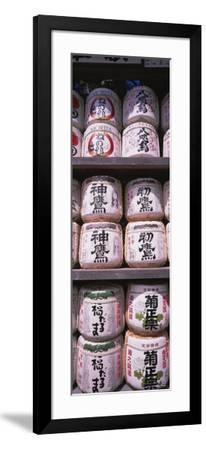 Saki Barrels, Kamakura, Japan--Framed Photographic Print