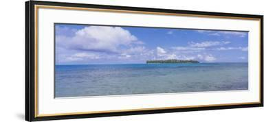 Island Viewed from the Ocean, Bora Bora, French Polynesia--Framed Photographic Print