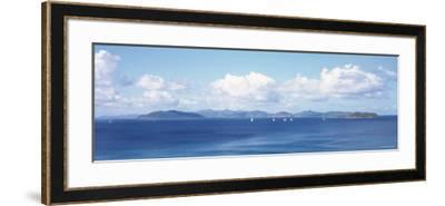 British Virgin Islands, Virgin Gorda, Sailboats in the Sea--Framed Photographic Print