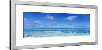 Clouds over the Pacific Ocean, Rangiroa, French Polynesia--Framed Photographic Print