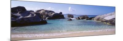 British Virgin Islands, Virgin Gorda, Rock on the Beach--Mounted Photographic Print
