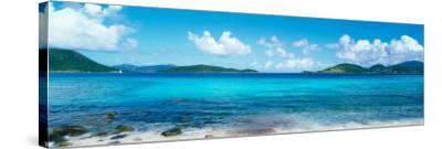 British Virgin Islands, St. John, Sir Francis Drake Channel, View of Sea and Island--Stretched Canvas Print