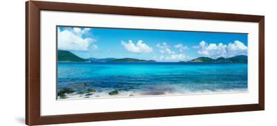 British Virgin Islands, St. John, Sir Francis Drake Channel, View of Sea and Island--Framed Photographic Print