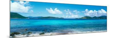 British Virgin Islands, St. John, Sir Francis Drake Channel, View of Sea and Island--Mounted Photographic Print