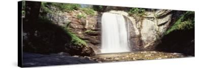 Waterfall in the Forest, Pisgah National Forest, Brevard, North Carolina, USA--Stretched Canvas Print