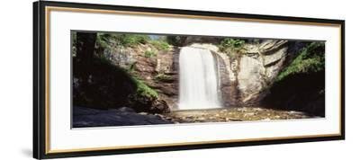 Waterfall in the Forest, Pisgah National Forest, Brevard, North Carolina, USA--Framed Photographic Print