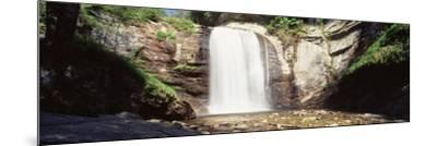 Waterfall in the Forest, Pisgah National Forest, Brevard, North Carolina, USA--Mounted Photographic Print