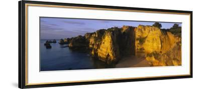 Rock Formations on the Beach, Lagos, Algarve, Portugal--Framed Photographic Print
