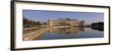 Manmade Lake Outside a Vintage Building, Belvedere Palace, Vienna, Austria--Framed Photographic Print
