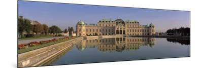 Manmade Lake Outside a Vintage Building, Belvedere Palace, Vienna, Austria--Mounted Photographic Print