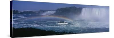 Tourboat near Waterfalls, Niagara Falls, Ontario, Canada--Stretched Canvas Print