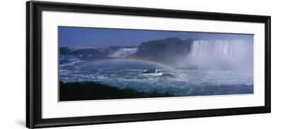Tourboat near Waterfalls, Niagara Falls, Ontario, Canada--Framed Photographic Print