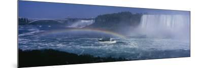 Tourboat near Waterfalls, Niagara Falls, Ontario, Canada--Mounted Photographic Print
