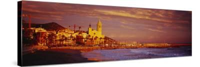 Beach, Sitges, Spain--Stretched Canvas Print