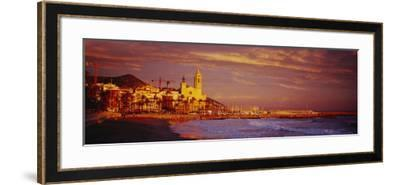 Beach, Sitges, Spain--Framed Photographic Print