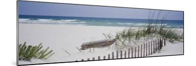 Fence on the Beach, Alabama, Gulf of Mexico, USA--Mounted Photographic Print