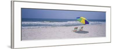 Chairs on the Beach, Gulf of Mexico, Alabama, USA--Framed Photographic Print