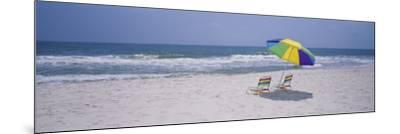 Chairs on the Beach, Gulf of Mexico, Alabama, USA--Mounted Photographic Print