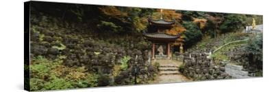 Pagoda, Otagi Nenbutsu-Ji Temple, Kyoto, Japan--Stretched Canvas Print
