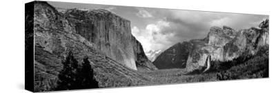 Rock Formations in a Landscape, Yosemite National Park, California, USA--Stretched Canvas Print