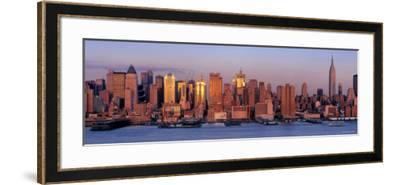 Skyscrapers at Dusk, West Side, New York, USA--Framed Photographic Print