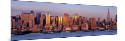Skyscrapers at Dusk, West Side, New York, USA--Mounted Photographic Print